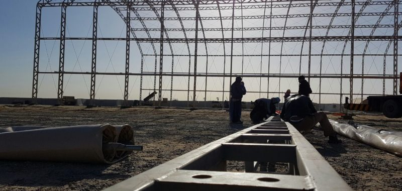 Installing Steel Structure